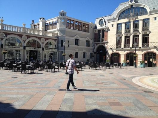 Площадь Batume Piazza, где был расположен наш отель