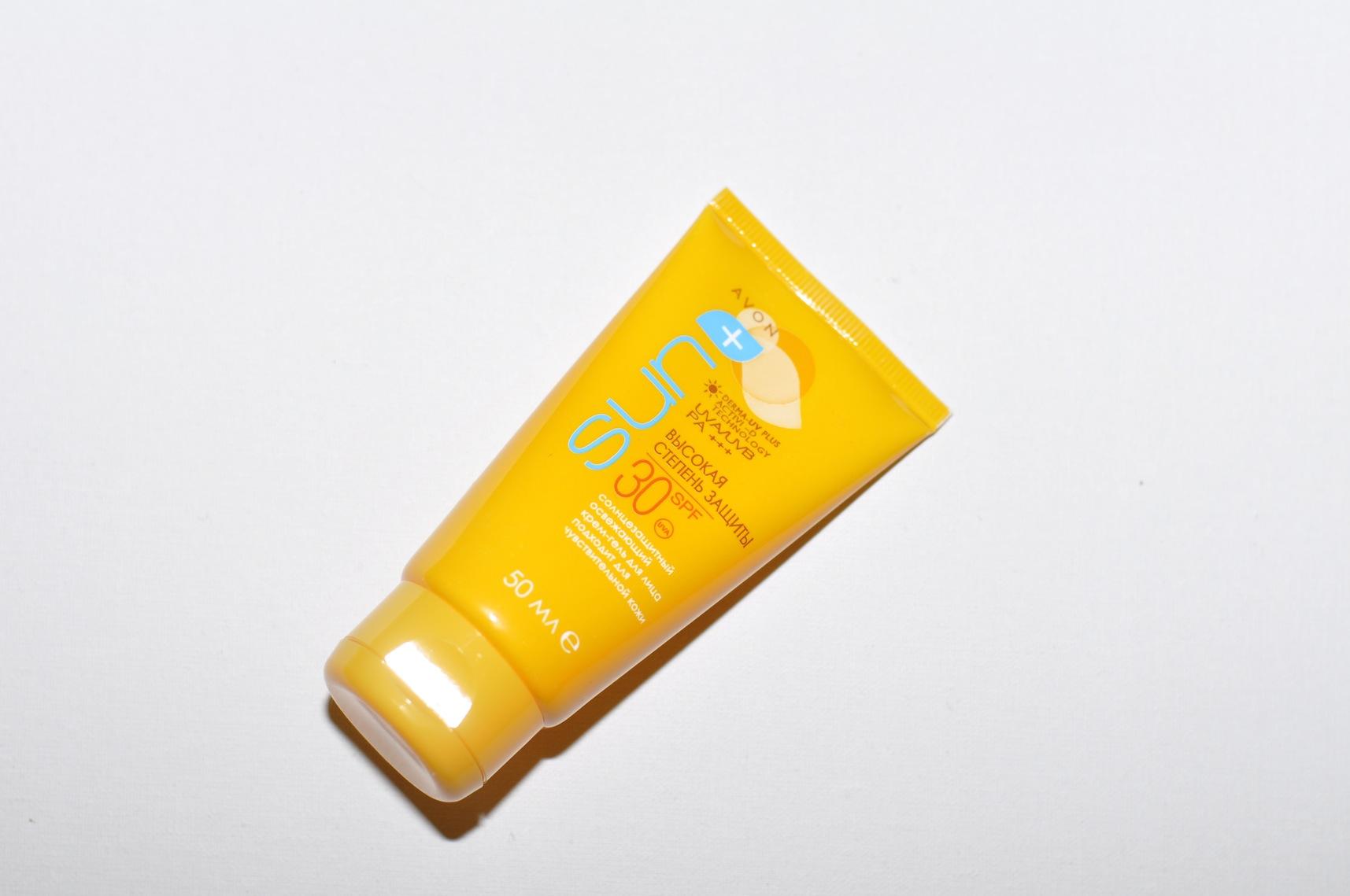 Солнцезащитный крем гель для лица